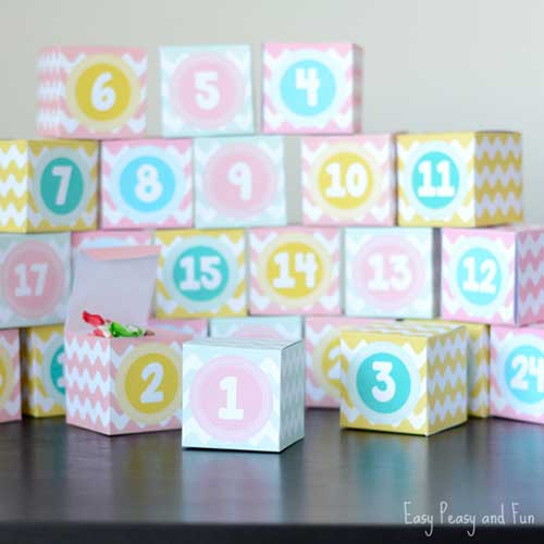 Advent Calendar Boxes by Easy Peasy and Fun