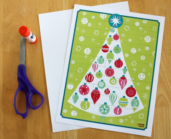 Printable Advent Calendar by Makes and Takes