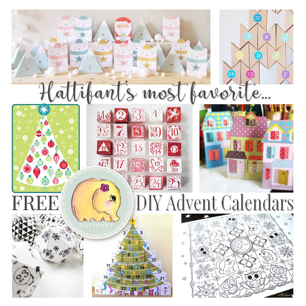 Hattifant's favorite FREE DIY ADvent Calendars