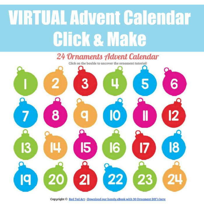 Virtual Advent Calendar Red Ted Art