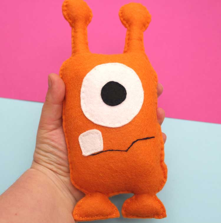 Hattifant favorite Felt crafts softie monster by sewkidding