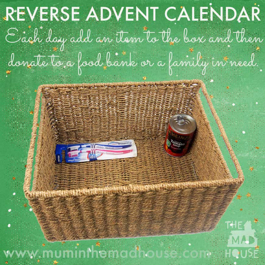 Reverse Advent Calendar by Mominthemadhouse