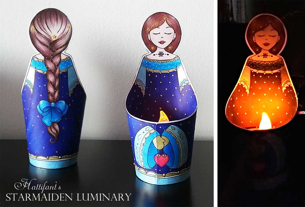 Hattifant's Angel and Starmaiden Luminary Papercraft LED Light