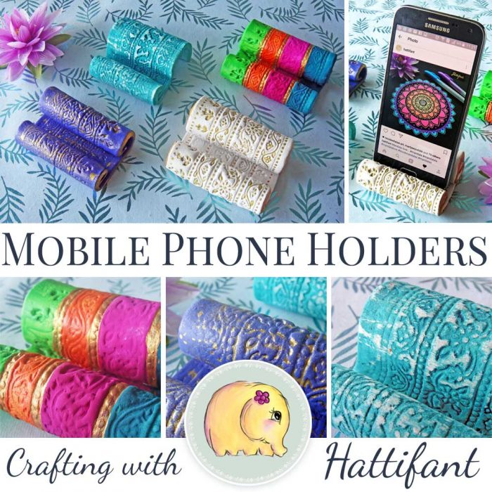 Hattifant's DIY Clay Mobile Cell Phone Holders
