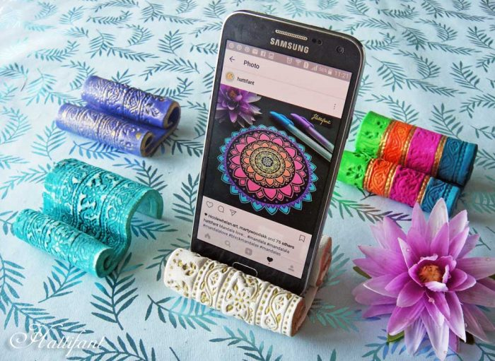 Hattifant Diy Clay Mobile Cell Phone Holder Hattifant