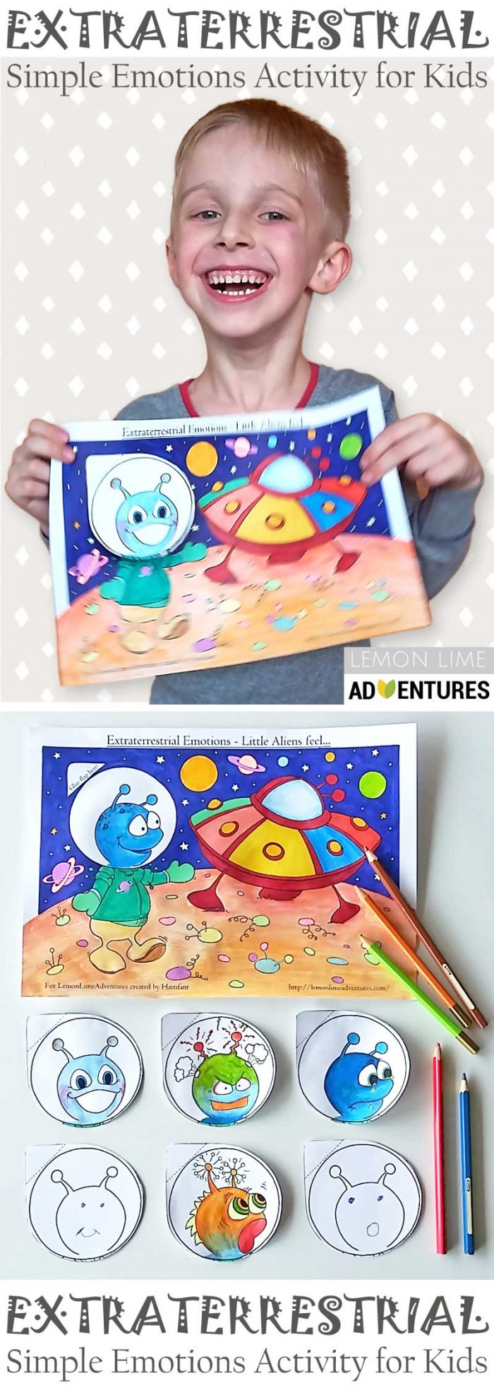 Hattifant Extraterrestrial Emotions Kids Activity Coloring