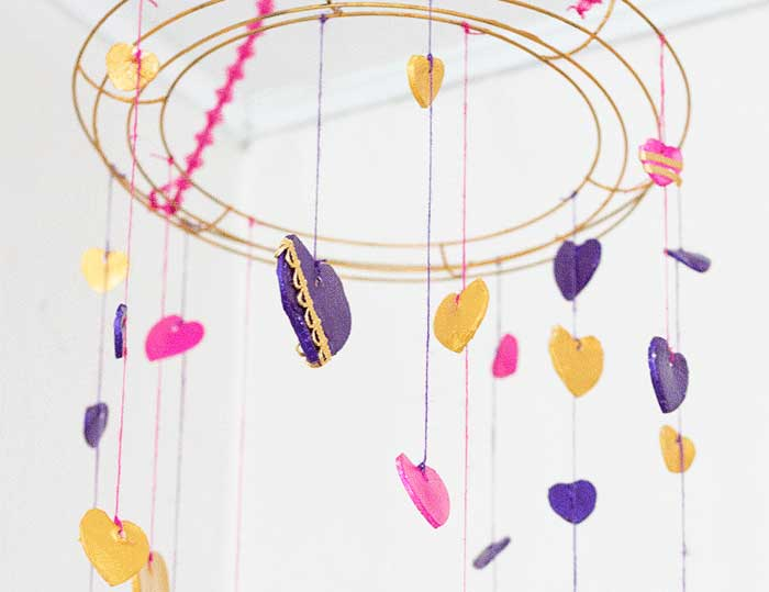 Hattifant's Favorite Clay Crafts Hearts Mobile Garland