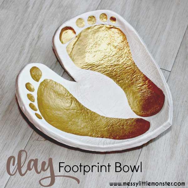 Hattifant's Favorite Clay Crafts Footprint Bowl Keepsake
