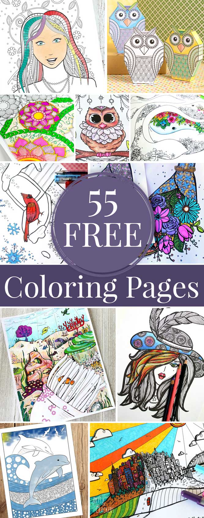 Hattifant's Coloring Tribe Round Up with 55 free Coloring Pages