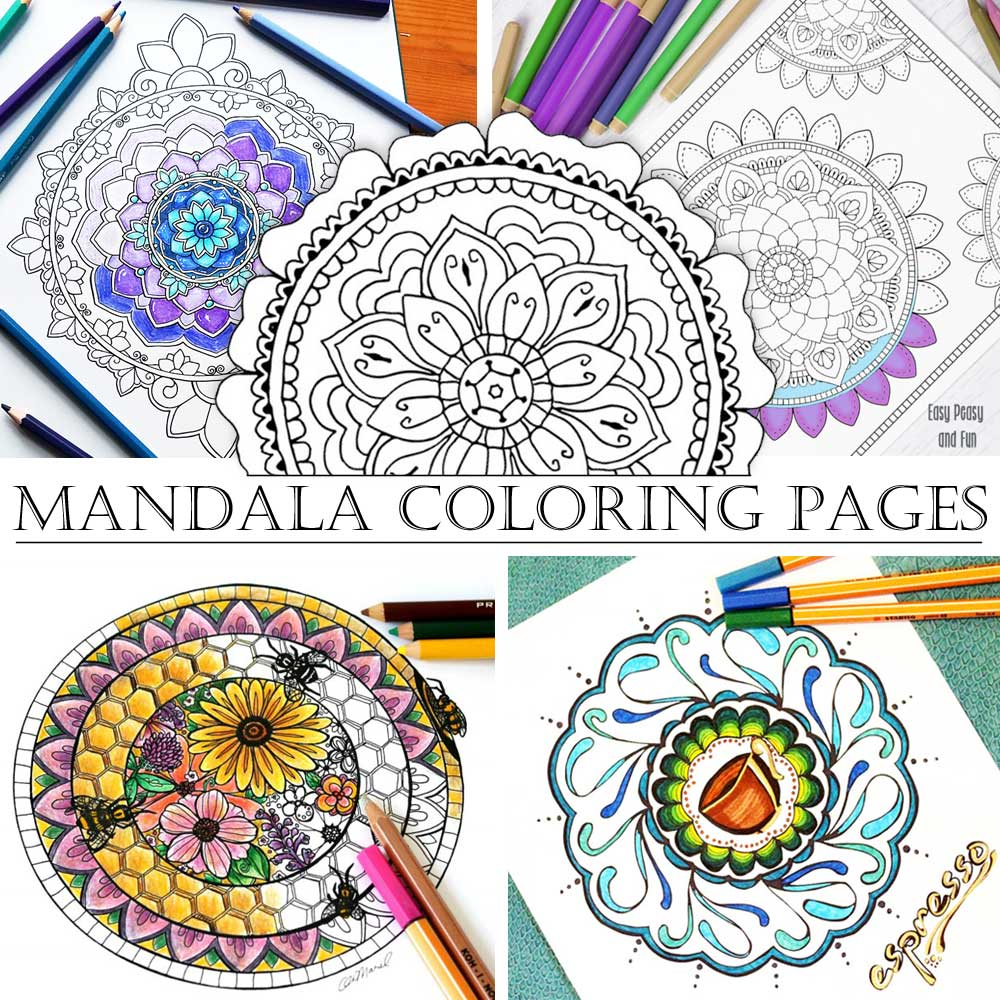 Hattifant's Coloring Tribe Mandala Coloring Pages