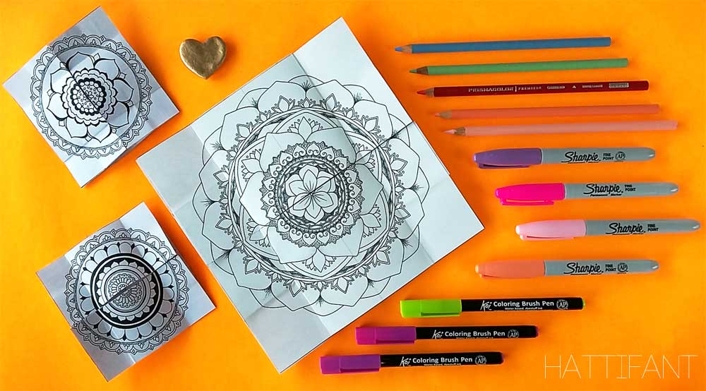 Hattifants Mandala Endless Card To Color And Craft