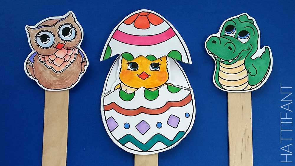 Hattifanteastersurpriseeggscoloringpagepapercraftcraftsticks Rhhattifant: Surprise Eggs Coloring Pages At Baymontmadison.com