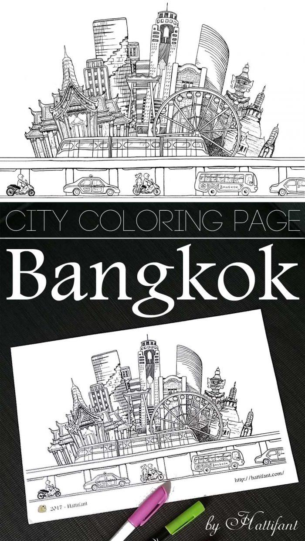 Hattifant Bangkok Bkk Coloring Page Printable Hattifant