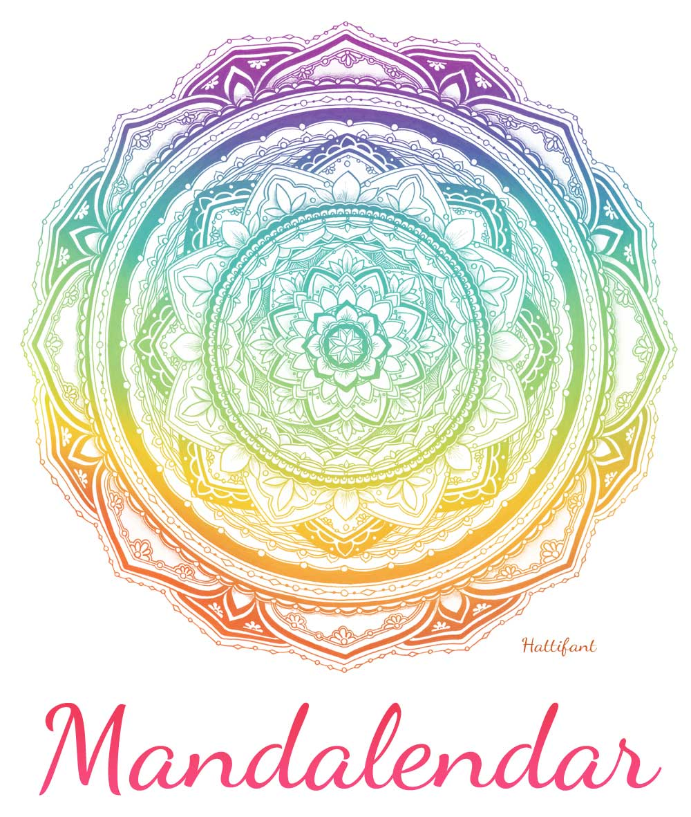 Hattifant Mandalendar Calendar Coloring Page Cover