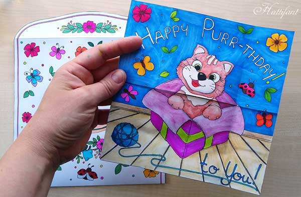 Hattifant's Endless Card Purr-thday Card and Purrfect Gift Card page 1