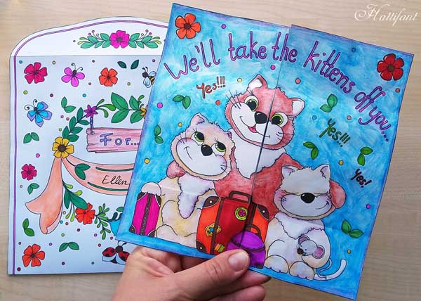 Hattifant's Endless Card Purr-thday Card and Purrfect Gift Card page 2