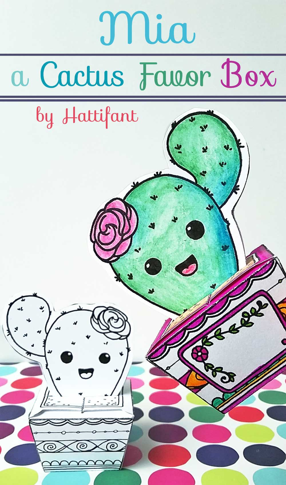 Mia - the Cactus Cutie Papercraft - Hattifant