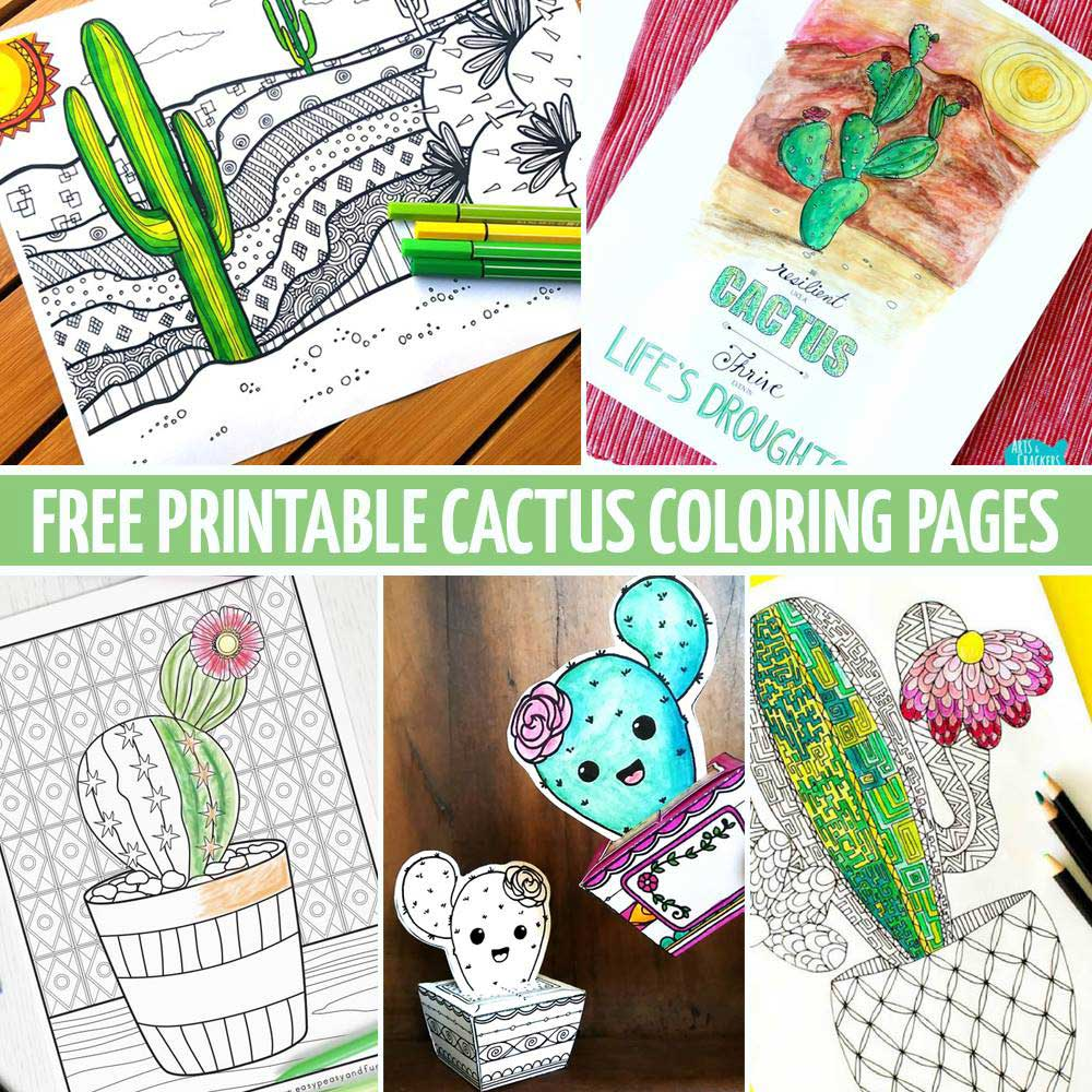 Hattifant Round Up with Coloring Tribe Friends Cactus COloring Pages and papercraft