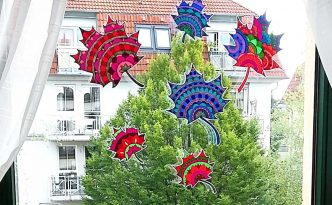 Hattifant's Mandala Autumn Leaves Sun Catcher Papercraft