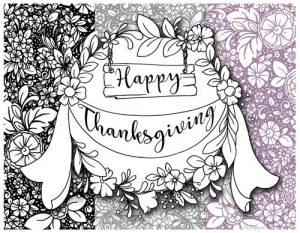 Hattifant's Thanksgiving Table Decoration Flower Doodle Cat Printables color choice