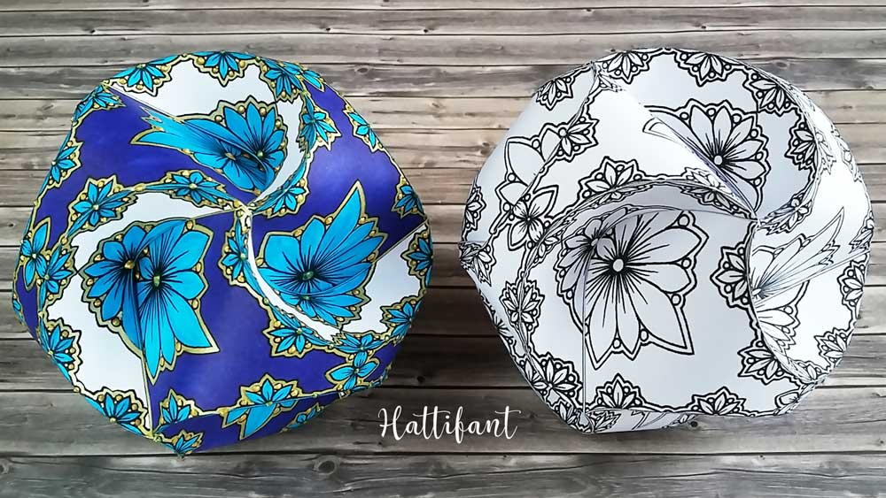 Hattifant's Triskele Paper Globes Flower Edition colored version