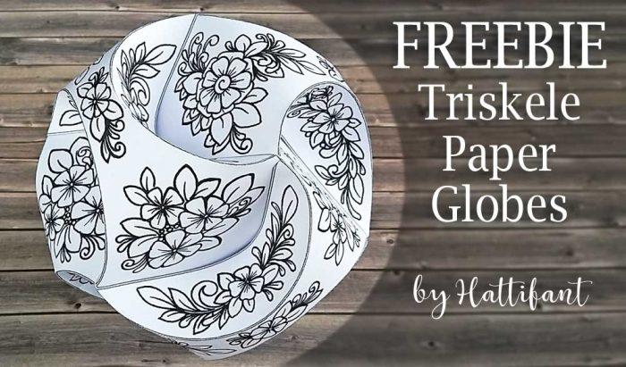 Hattifant Triskele Paper Globes Flower Edition Freebie