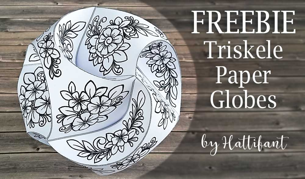 Hattifants Triskele Paper Globes Flower Edition Freebie