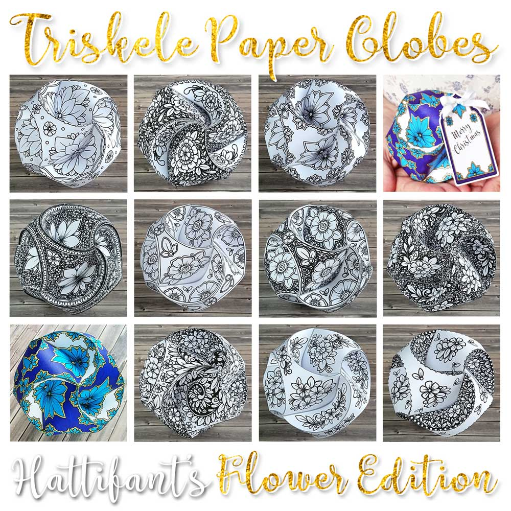 Hattifant's Triskele Paper Globes Flower Edition Summary