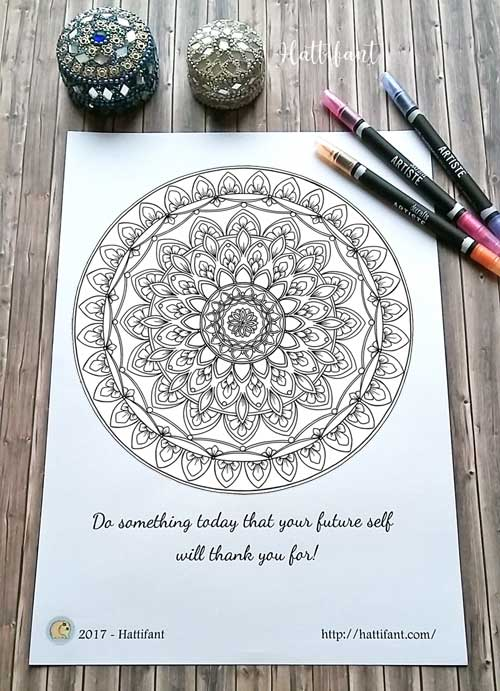 Hattifant's Home Decor Mandala Papercut to Coloring Page