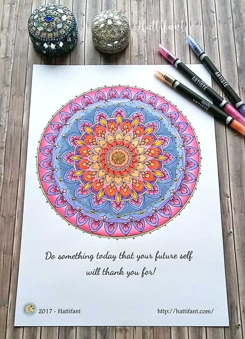 Hattifant's Home Decor Mandala Papercut template