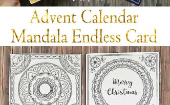 Hattifant's Christmas Advent Calendar Mandala Endless Card Bundle