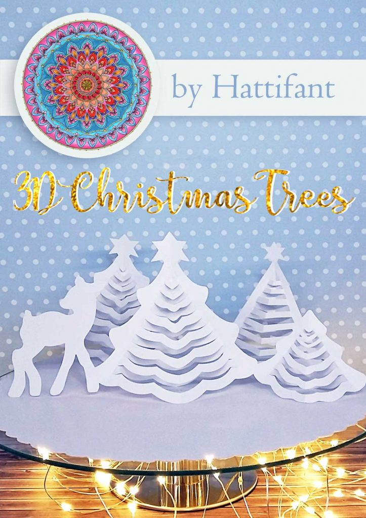 Hattifant's 3D Christmas Trees a papercraft printables free download