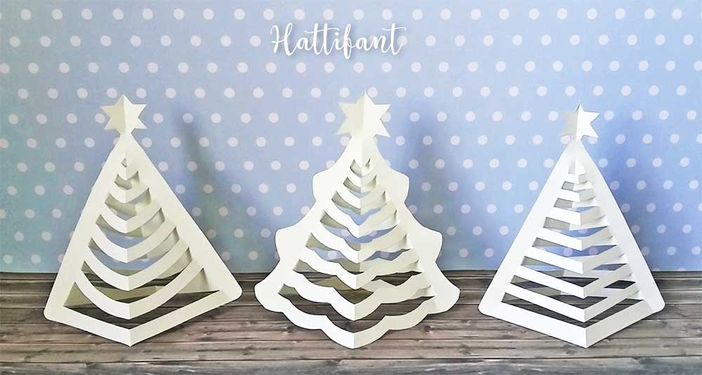 hattifants 3d paper christmas trees
