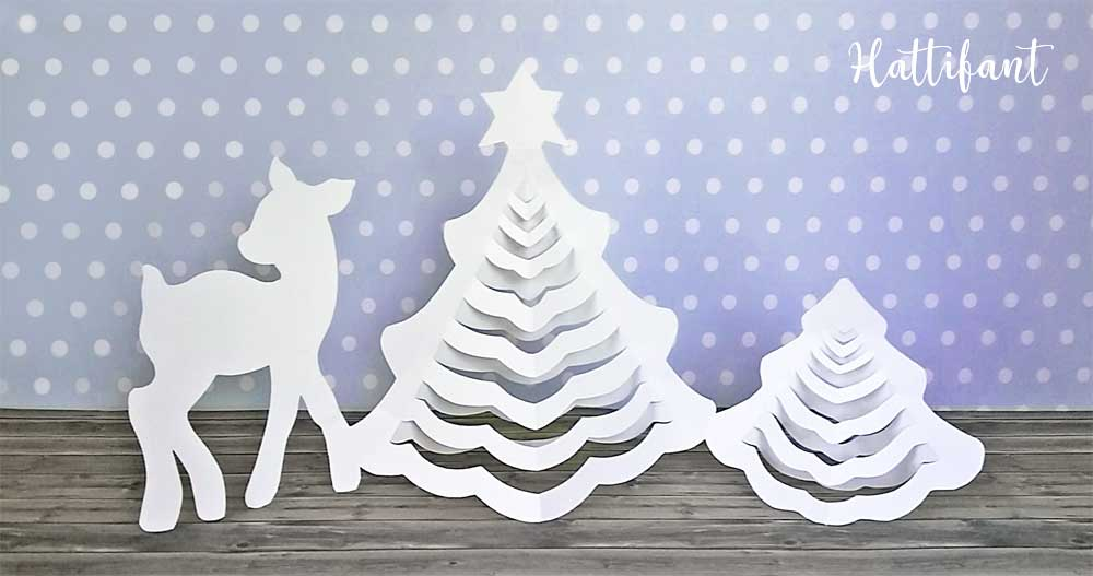 hattifants 3d christmas trees a papercraft printables free download