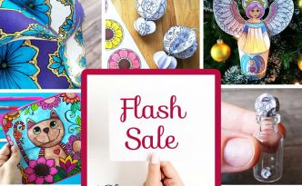 Hattifant's Flash Sale for 14 Papercrafts and Coloring Pages 55% off