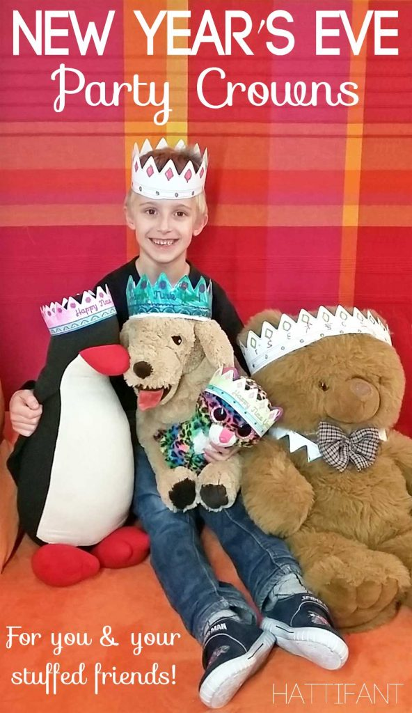 Hattifant's New Year's Eve Party Crown Papercraft with printables Coloring Pages