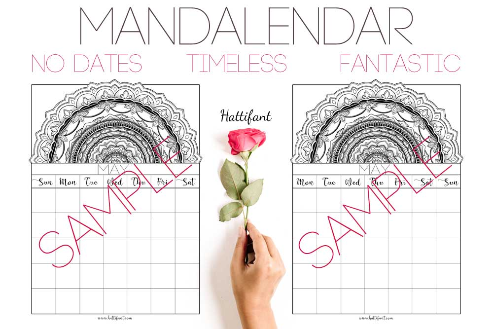 Hattifant's Mandalendar 2019 a Mandala Calendar to Color and Plan with