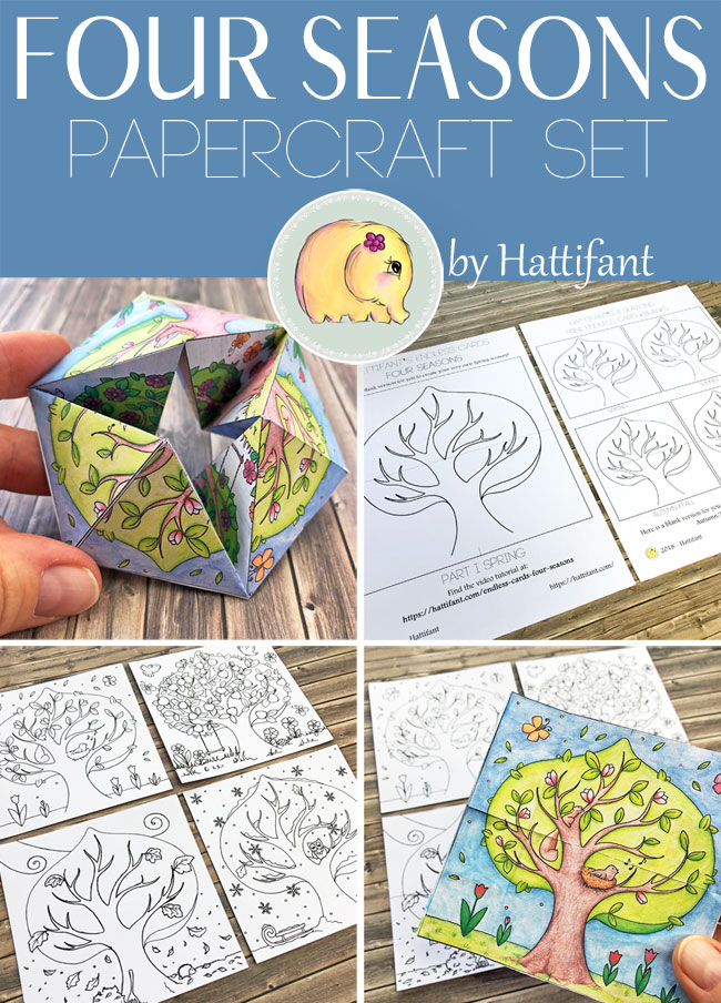 Hattifant's Four Seasons Papercraft Bundle