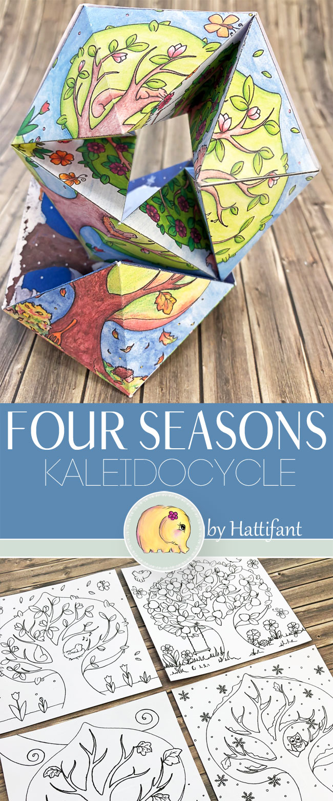 Hattifant's Four Seasons Flextangle Kaleidocycle