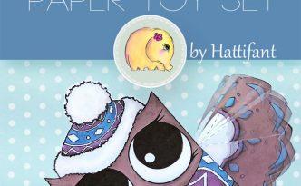 Hattifant's Owl Paper Toys to DIY Graduation Winter Santa Unicorn owlicorn