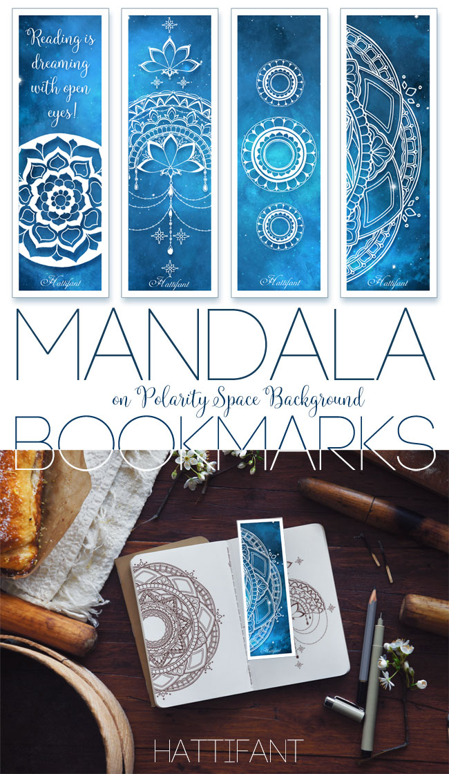 Hattifant's Mandala on Polarity Space Background Bookmarks