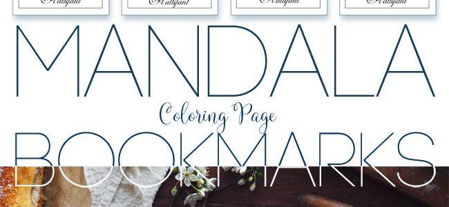 Hattifant's Mandala on Polarity Space Background Bookmarks
