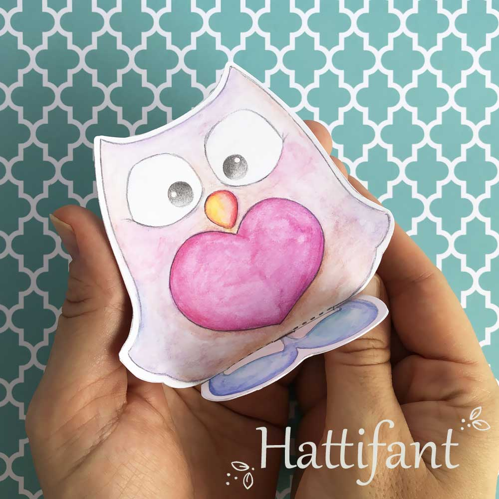 Hattifant's Pom Pom Mama & Baby Owls Paper Craft