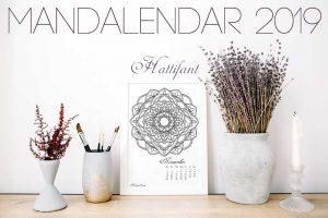 Hattifant's Mandalendar 2019 a Mandala Calendar to Color