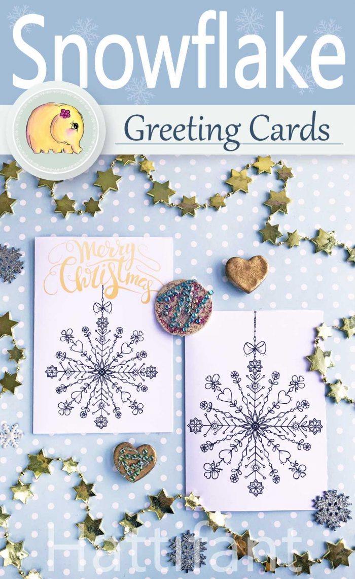 Hattifant's Card Snowflake Season's Greetings
