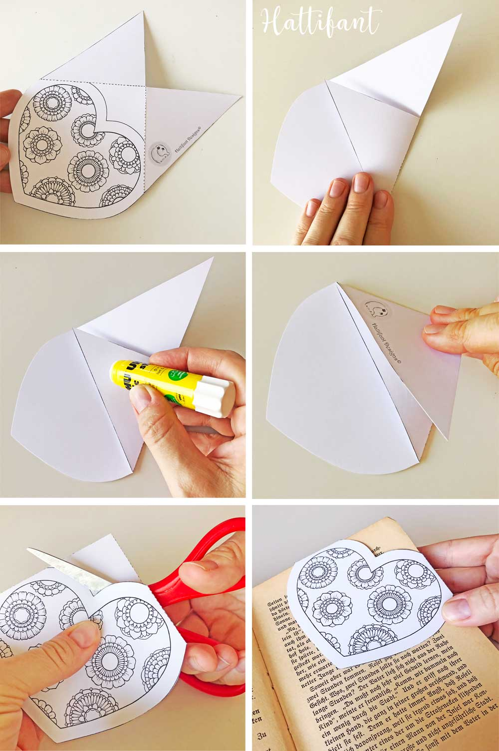 Easy Origami Bookmarks · How To Make A Corner Bookmark ... | 1505x1000