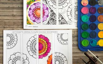 Hattifant's Flower Twirl Bookmarks Spring