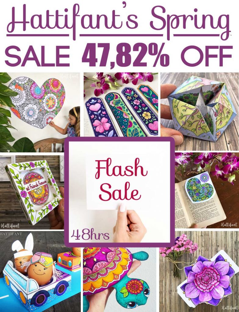 Hattifant's giant superduper Spring Valentine and Easter Paper Craft Bundle Sale