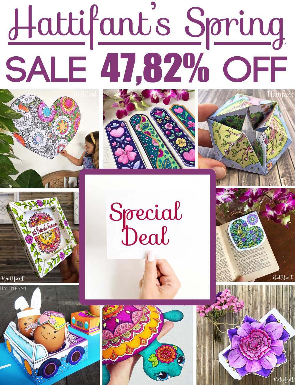 Hattifant's giant superduper Spring Paper Craft Bundle Sale