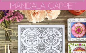 Hattifant's Mandala Carpet Coloring Page Set